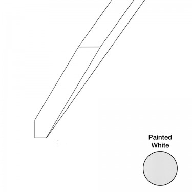 """Crown Molding Angled 96"""" - white"""