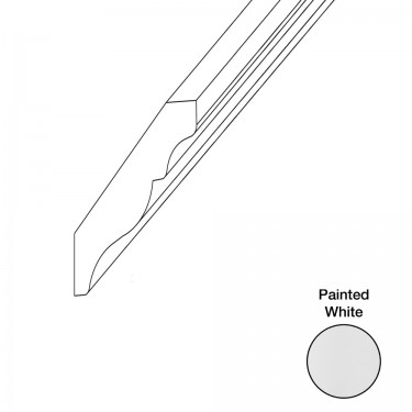 """Crown Molding Classic 96"""" - white"""