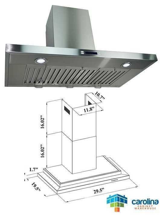Stainless Steel 30 Inch Wall Range Hood - CCW-GWRKD30